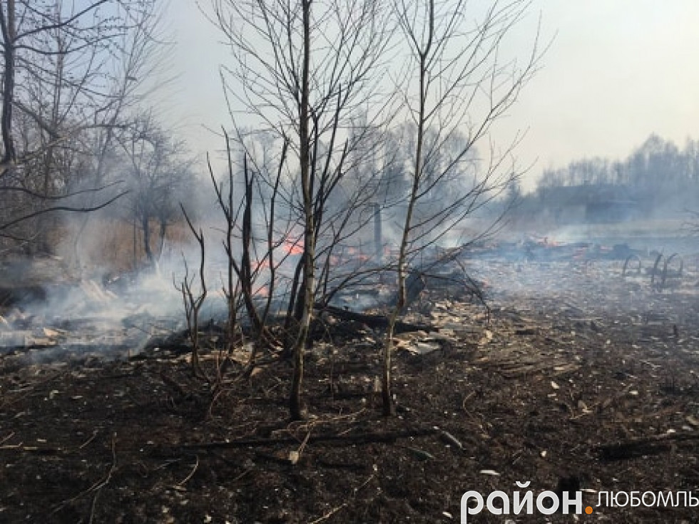 Пожежа в Гуменцях