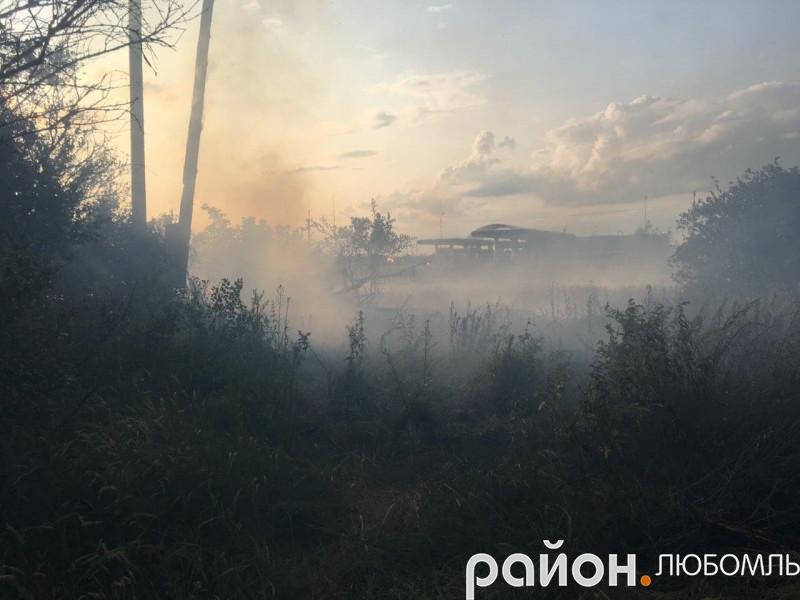 Під час пожежі