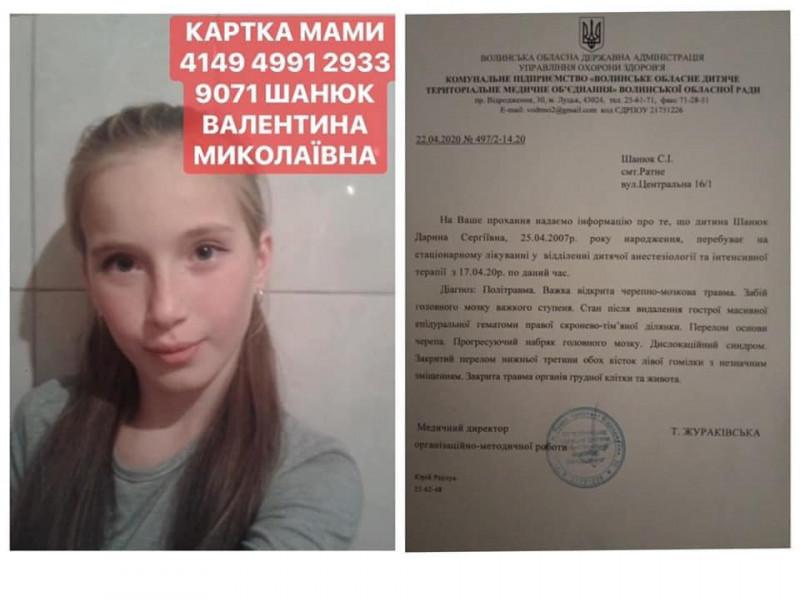 Дарина Шанюк потребує допомоги небайджуих