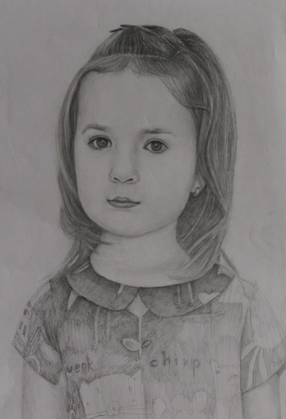 На портреті дівчинка як наяву.