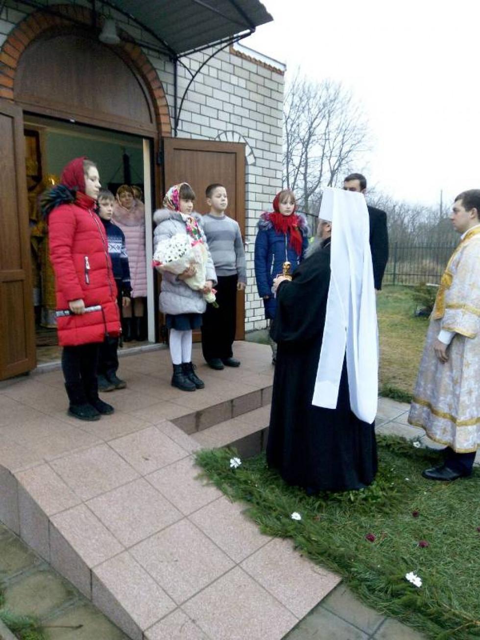 Діти розчулили Владику віршованими рядками про село.