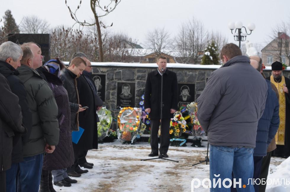 Представник Фонду Ігоря Гузя «Прибужжя» Ігор Торба.