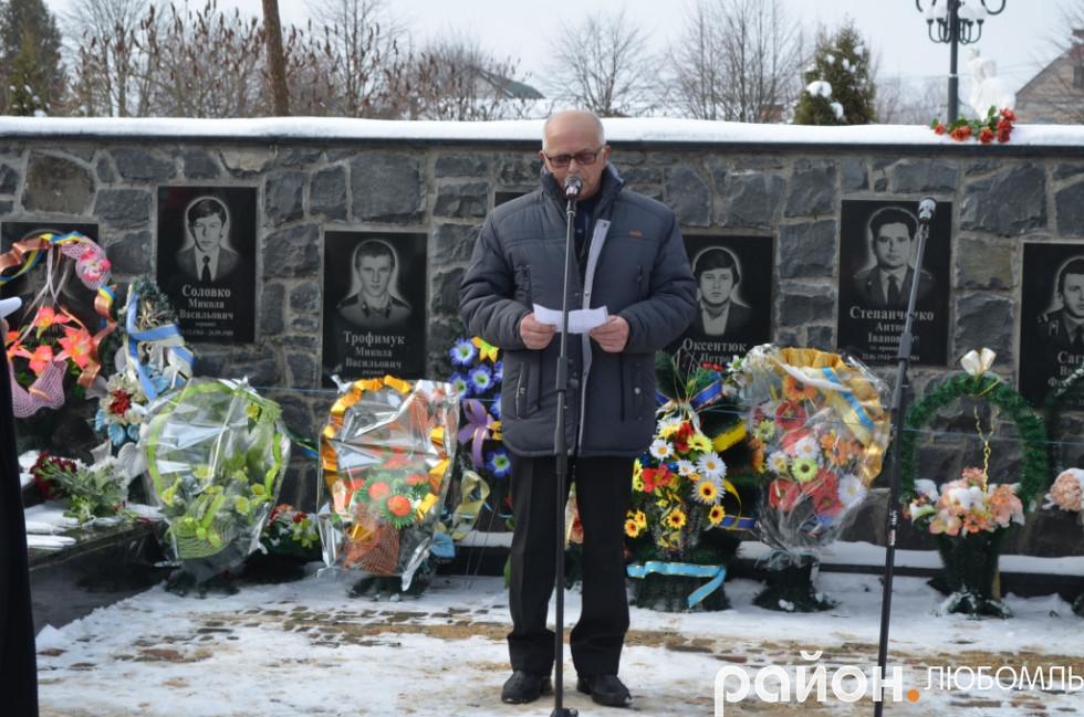 Голова районної організації Української Спілки ветеранів Афганістану Володимир Сачук.
