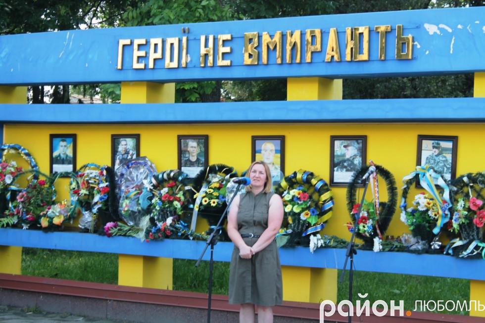 Волонтерка Катерина Мокренко