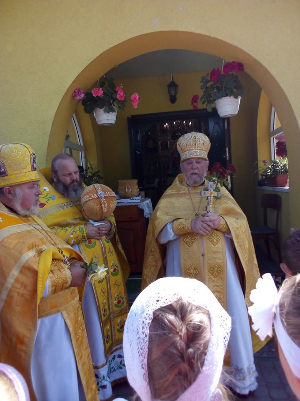 Благочинний Любомльської округи отець Василій Мельничук очолив святкову службу.