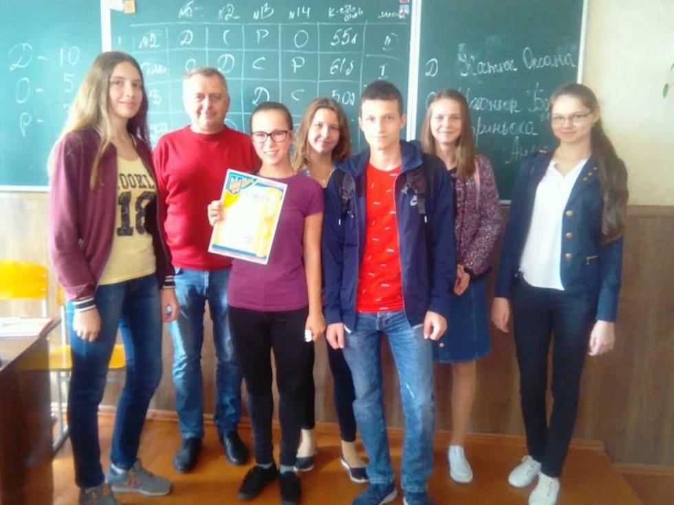 Бронзові призери - представники ЗЗСО №3.