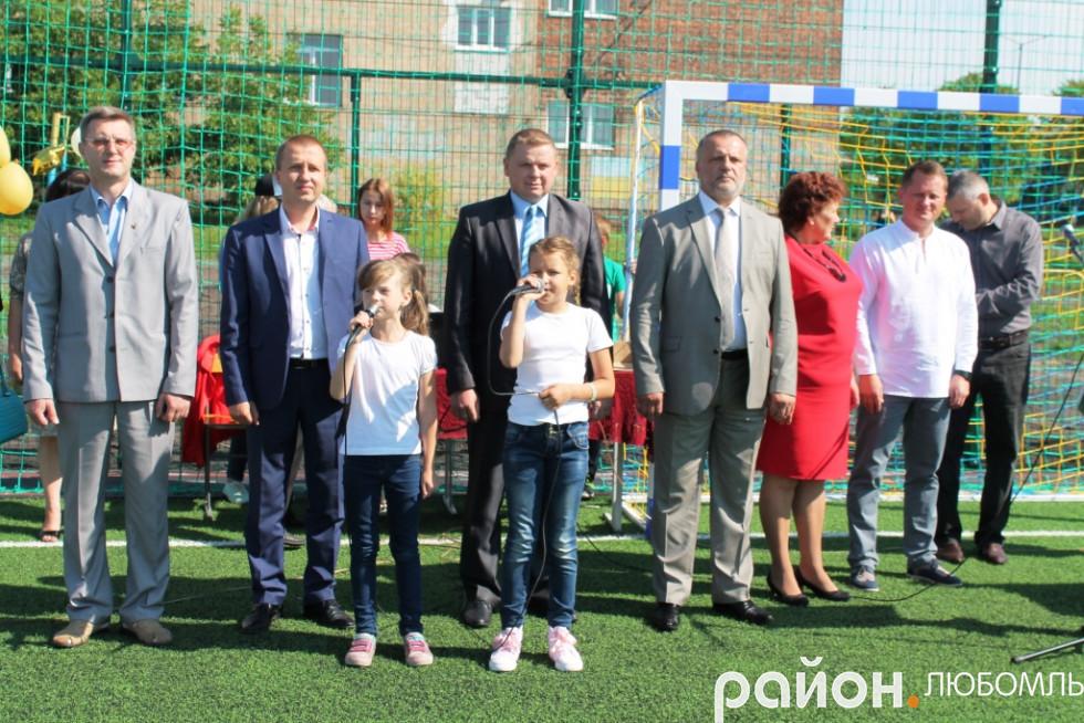 Любомль  у школі №2 закрили сучасний спортивний майданчик - Район ... b67fe1577137f