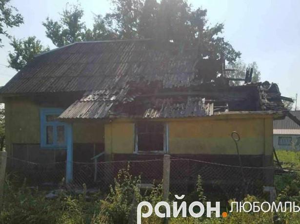 Пожежа в Олеську
