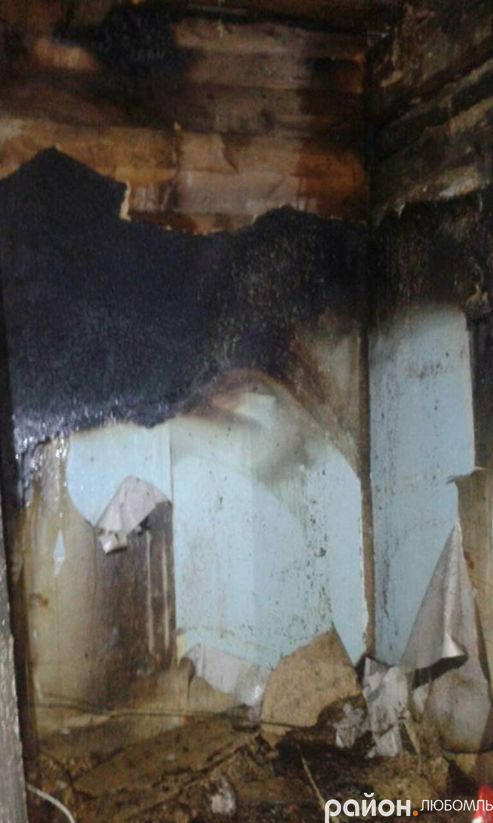 Пожежа у селі Вишнів