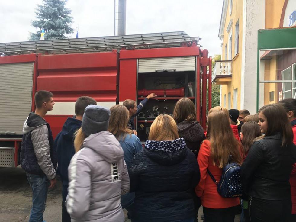 Вихованці професійного ліцею побували на екскурсії у рятувальників