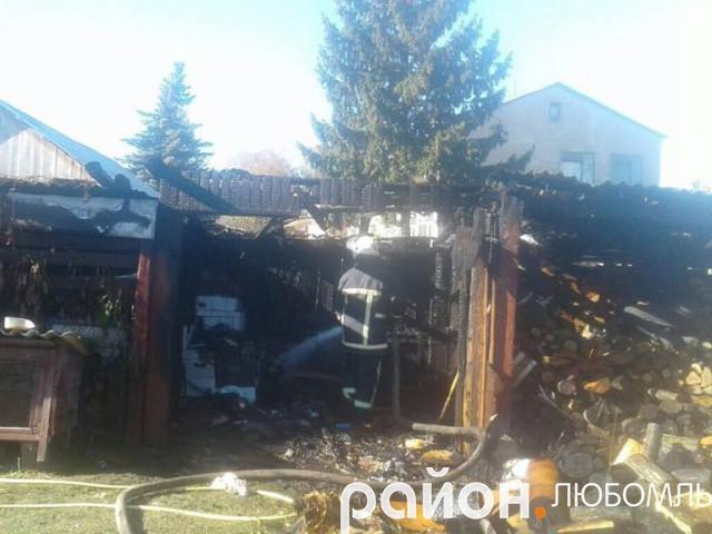 Пожежа на Любомльщині