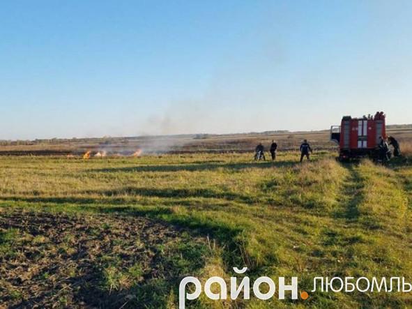 Пожежа посуші біля Коцюрів