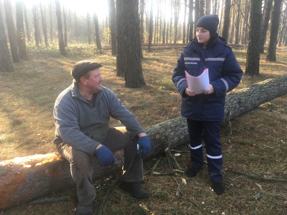 Рятувальники Любомльщини нагадали, як запобігти пожежі у лісових масивах