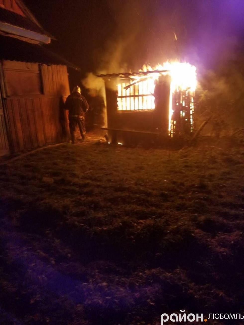 Пожежа у Любомлі