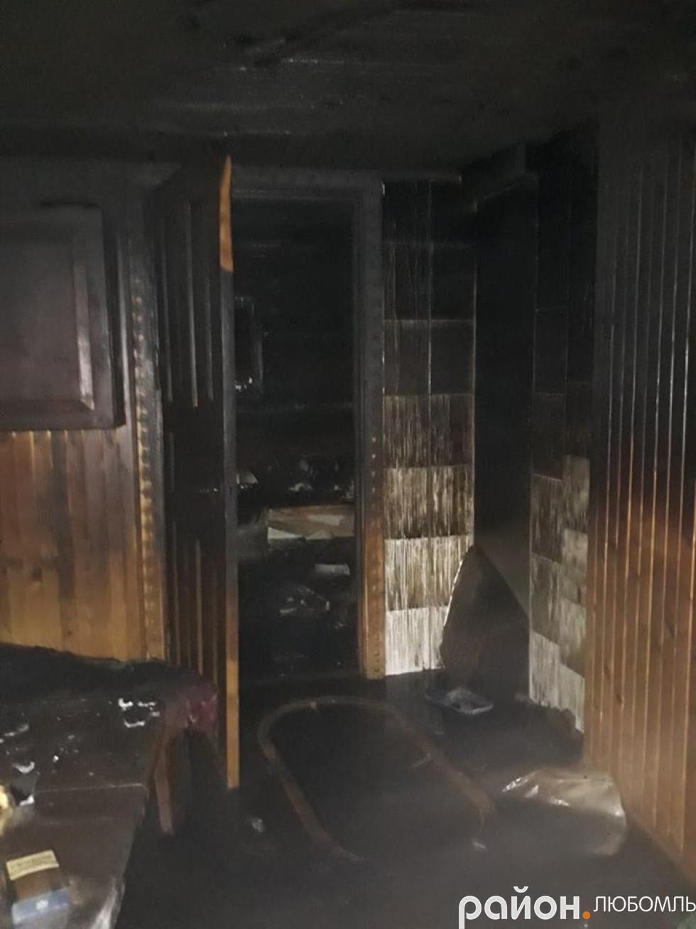 Пожежа в Любомлі