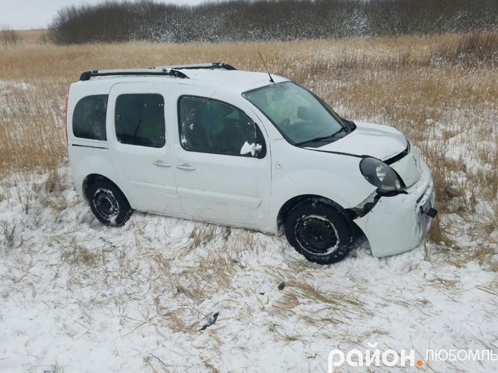 Біля Коцюрів авто злетіло з дороги