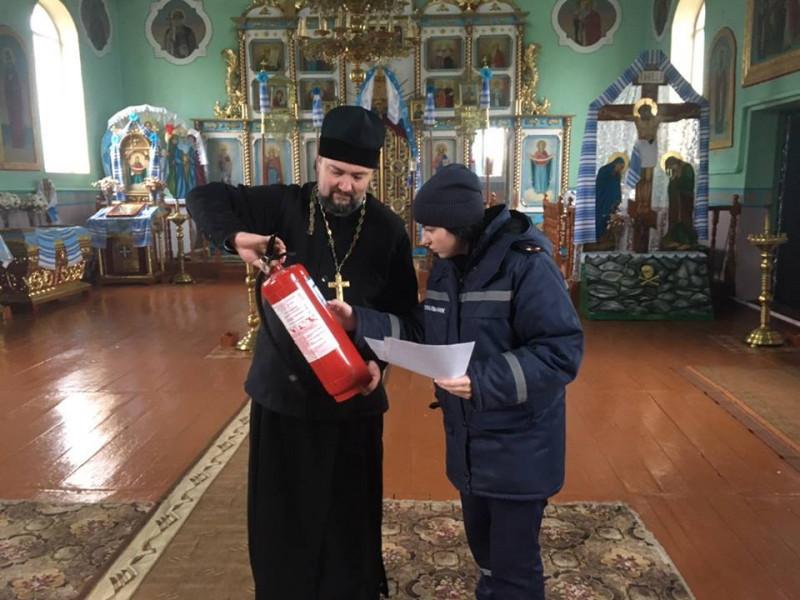Любомльські рятувальники нагадали свяженнослужителям правила безпеки у храмі