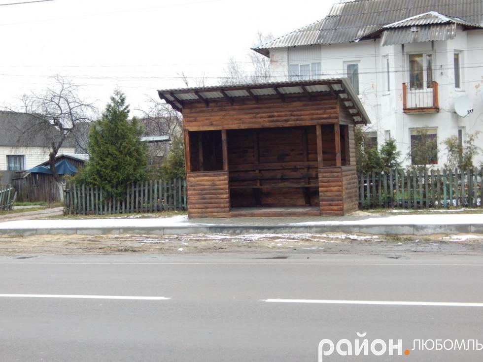 Зупинка у місті Любомль