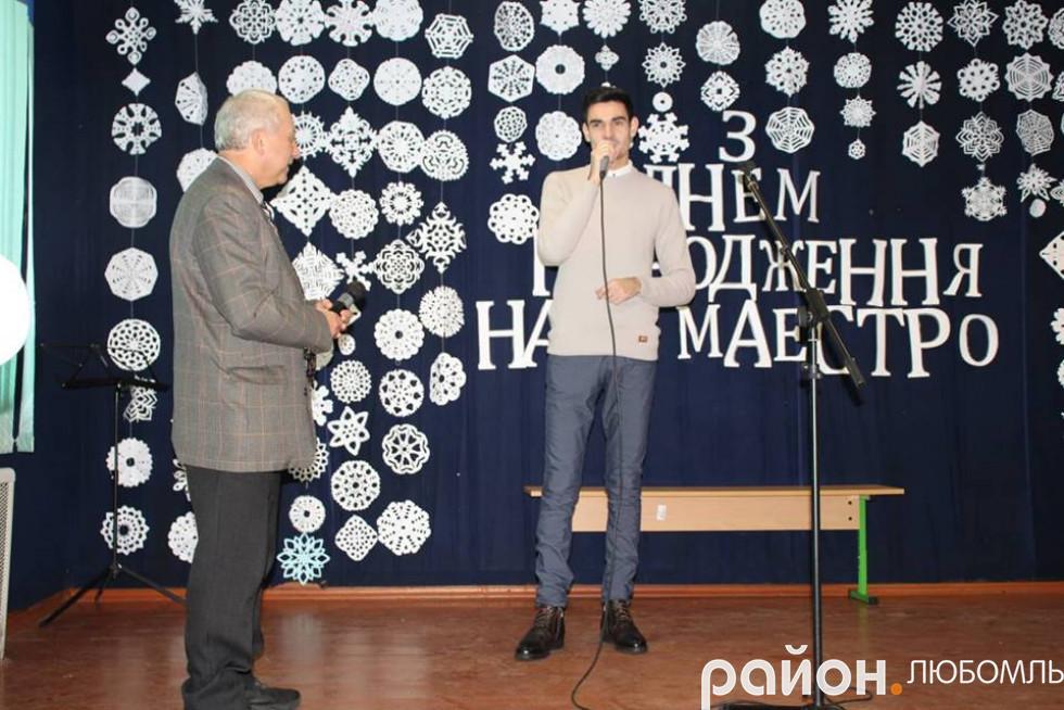 Валерій Сулік зі своїм вихованцем