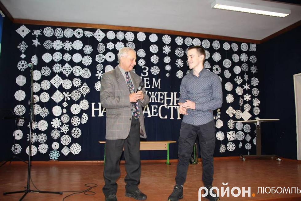 Валерій Сулік зі своїм учнем
