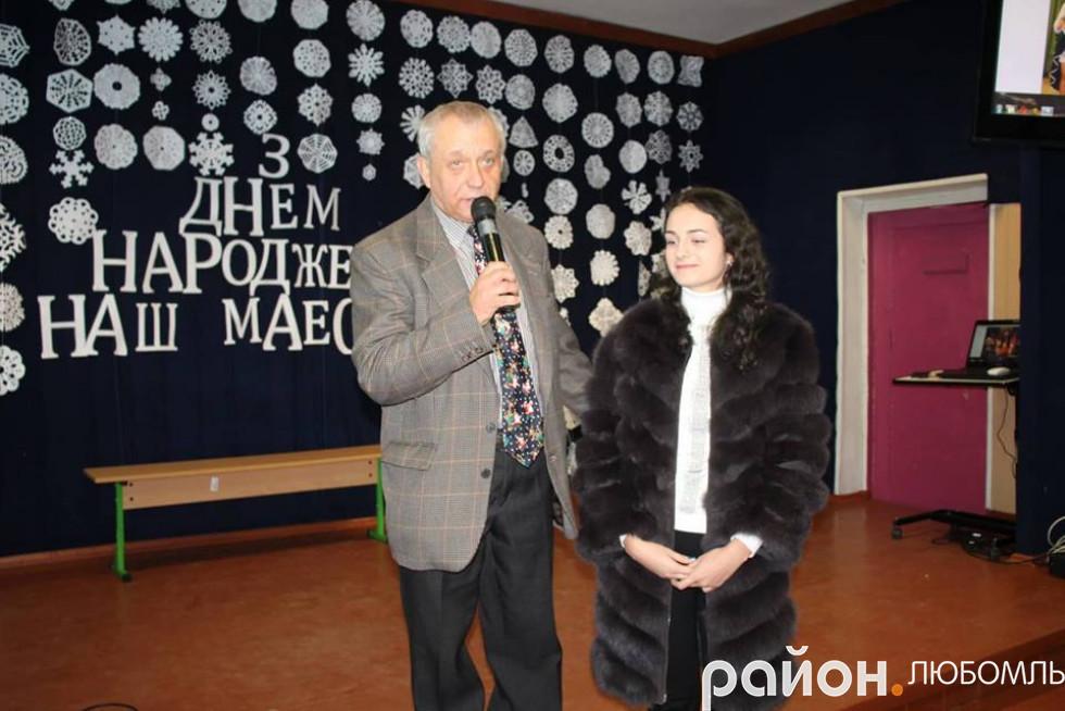Валерій Сулік зі своєю ученицею