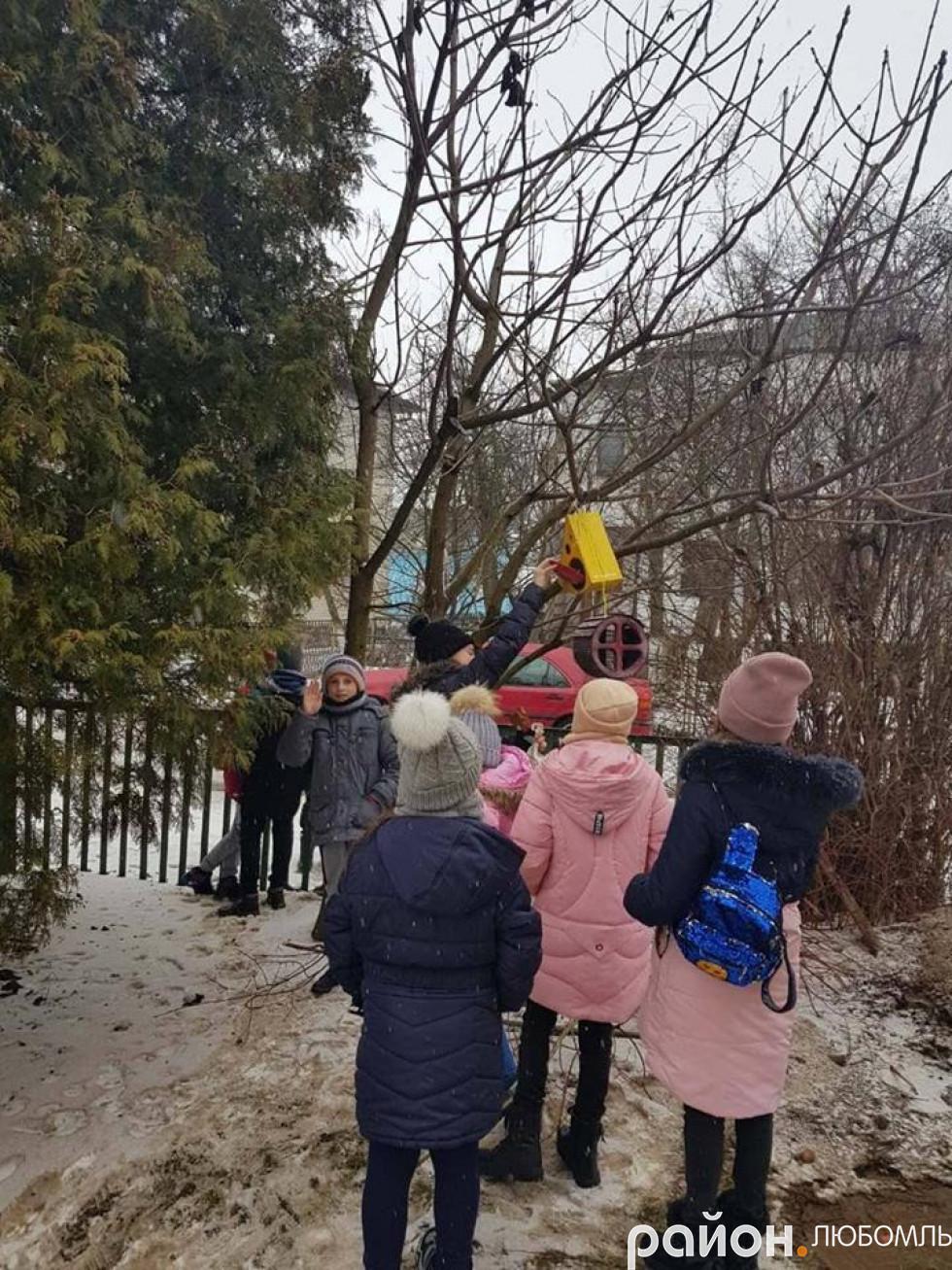 Вихованці Будинку школяра годували пернатих