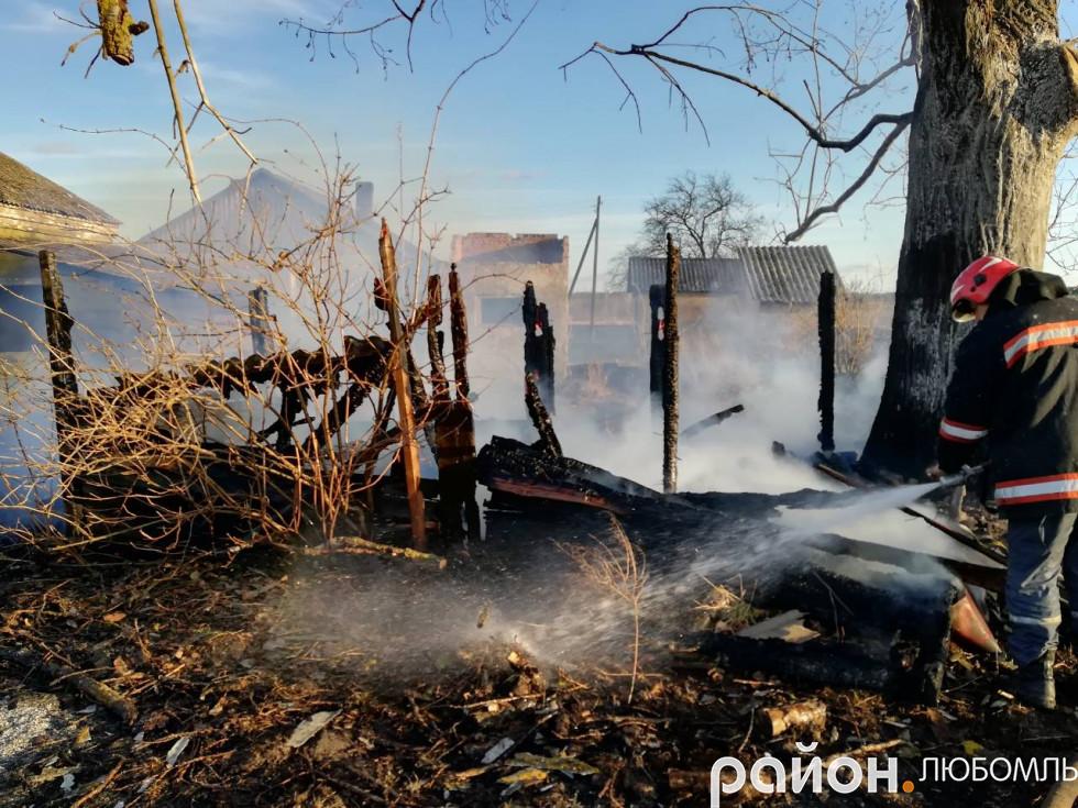 Пожежа в Старовойтово
