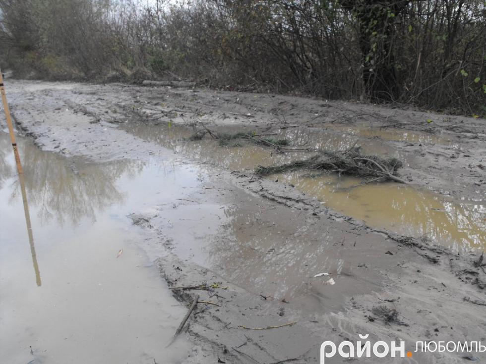 Через здоровенні калюжі люди змушені об'їжджати до 20 кілометрів, щоб потрапити в Почапи, яке від Руди розташоване за 3 кілометра.