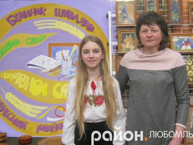 Олена Тимощук із вихованкою студії Валерією Орловою.