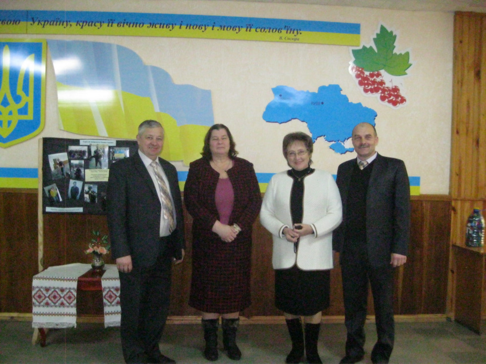 Естонська делегація у Любомльському професійному ліцеї.