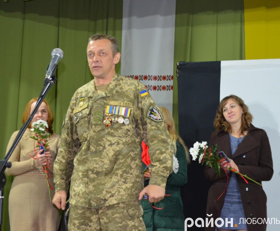Атовець Юрій Корольчук, повернувшись зі сходу, продовжує активно займатися громадською діяльністю.
