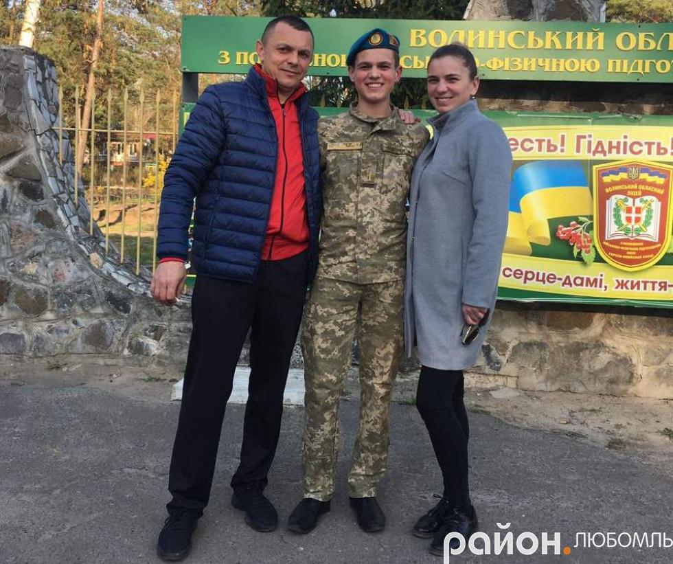 Син Ілля вступив до Волинського обласного ліцею з посиленою військово-фізичною підготовкою у Ковель.