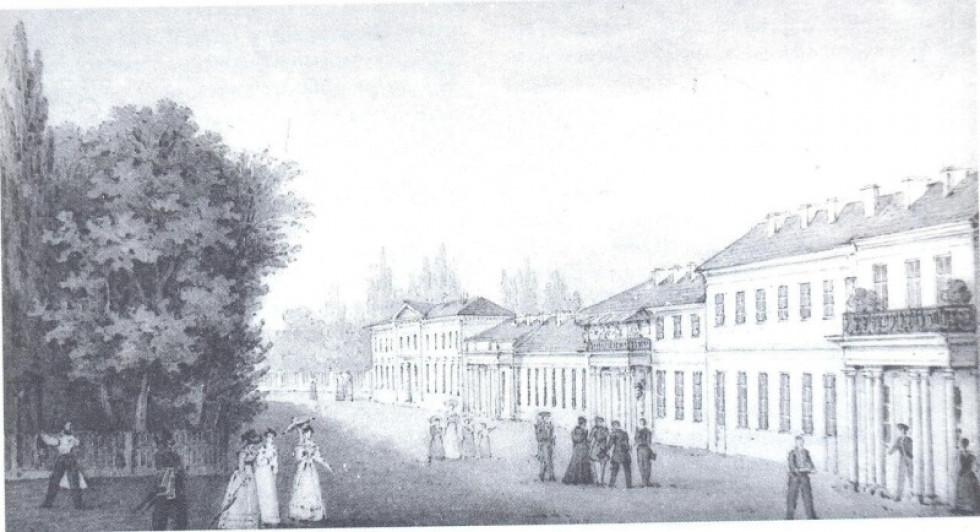 Малюнок 1827 року. Палац Браницьких. Любомль