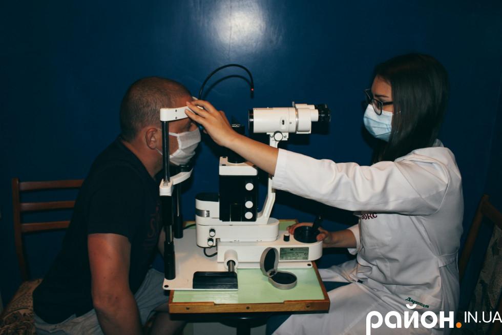 У кабінеті офтальмолога